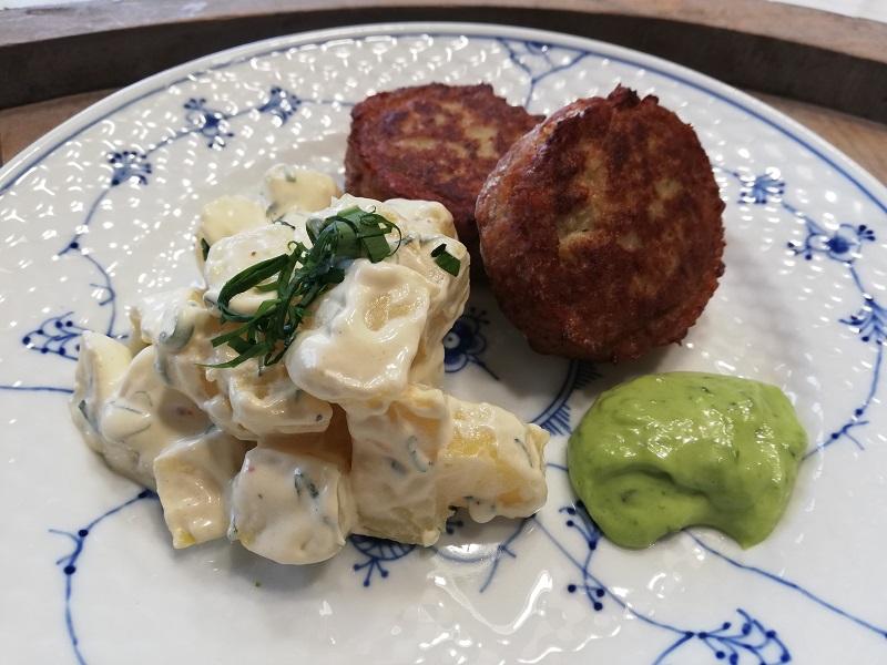 ramsløgsmayonnaise kartoffelsalat opskrift