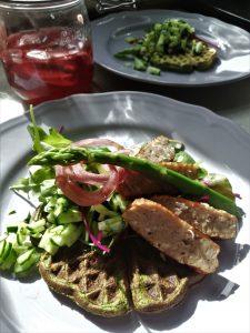 sunde grønne vafler opskrift